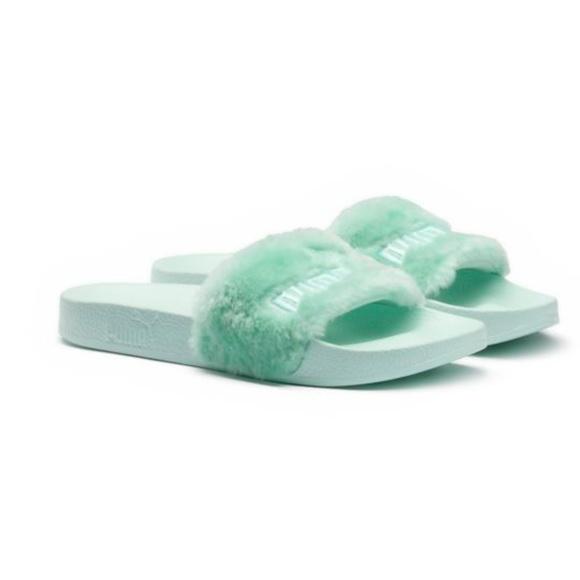 a2d2445b73ed Puma x Rihanna Women s Fenty Fur Slides Sandals